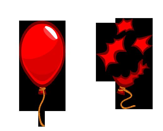 Balao Vermelho Png